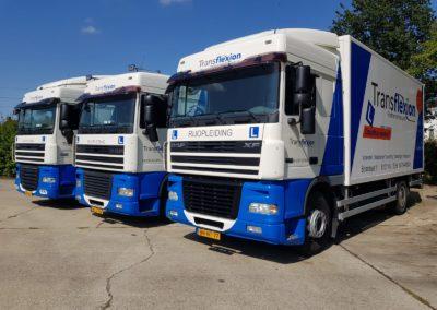 Drie vrachtwagens